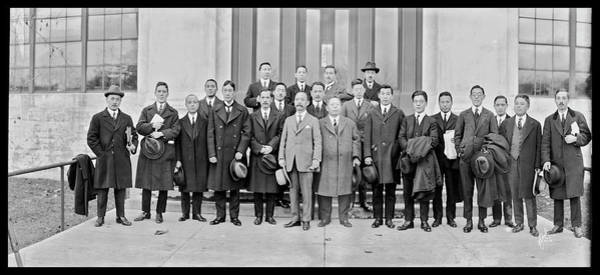 Washington Capitals Photograph - Japanese Correspondents 1922 by Fred Schutz Collection
