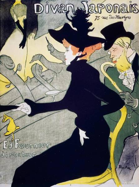 Wall Art - Painting - Japanese Couch - Digital Remastered Edition by Henri de Toulouse-Lautrec
