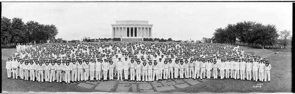 Wall Art - Photograph - Japanese Crew At Lincoln Memorial by Fred Schutz Collection