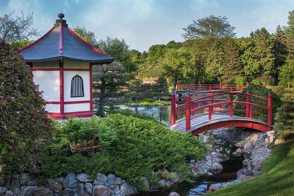 Photograph - Japanese Garden #2 - Pagoda And Red Bridge by Patti Deters