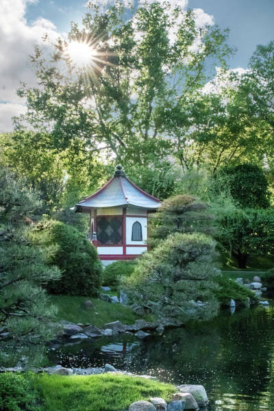 Photograph - Japanese Garden #4 - Island Pagoda Vertical by Patti Deters