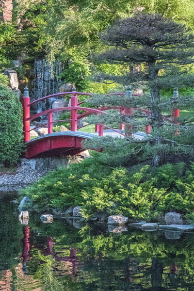 Photograph - Japanese Garden #5 - Bridge Vertical by Patti Deters