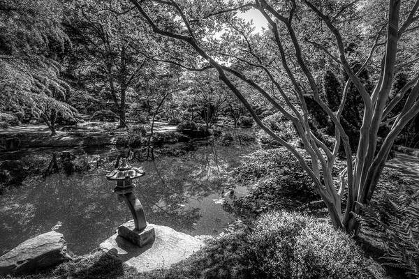 Photograph - Japanese Garden At Gibbs In Black And White by Debra and Dave Vanderlaan