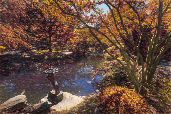 Photograph - Japanese Garden At Gibbs Oil Painting by Debra and Dave Vanderlaan