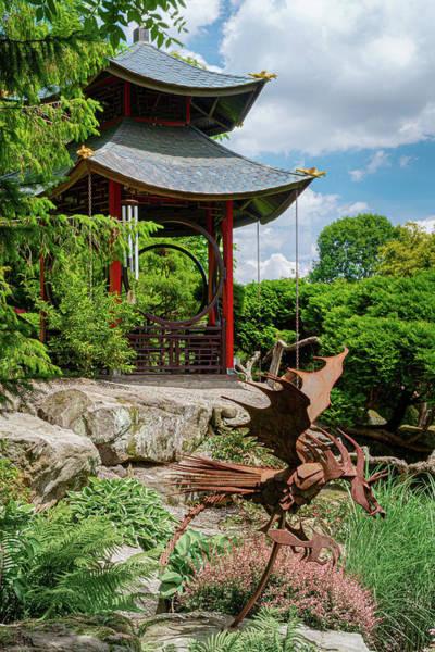 Wall Art - Photograph - Japanese Garden Gazebo by Tom Mc Nemar