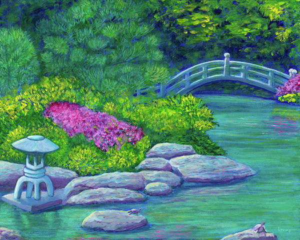 Wall Art - Painting - Japanese Garden by Laura Zoellner