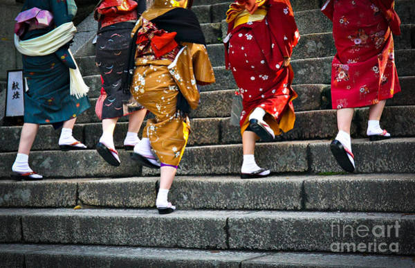Wall Art - Photograph - Japanese Ladies In Traditional Dress by Neale Cousland
