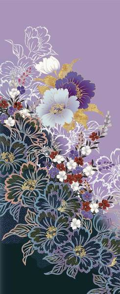 Kimono Digital Art - Japanese Modern Interior Art #33 by ArtMarketJapan