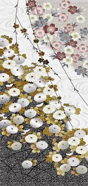 Kimono Digital Art - Japanese Modern Interior Art #36 by ArtMarketJapan