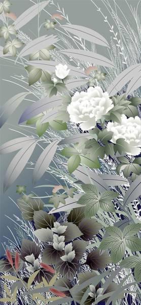 Kimono Digital Art - Japanese Modern Interior Art #39 by ArtMarketJapan