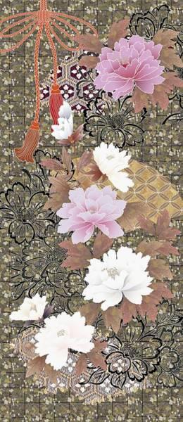 Kimono Digital Art - Japanese Modern Interior Art #43 by ArtMarketJapan