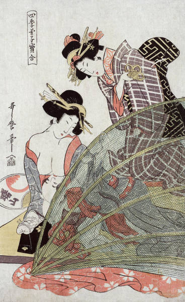 Wall Art - Photograph - Japanese Mother Breastfeeding, 19th by Science Source