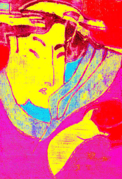 Digital Art - Japanese Pop Art Print 10 by Artist Dot