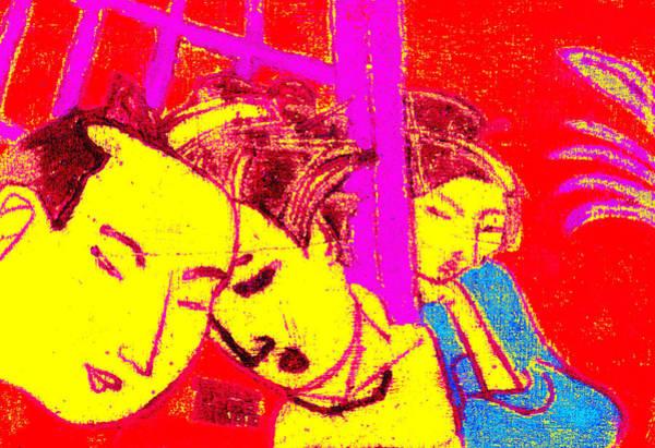 Digital Art - Japanese Pop Art Print 4 by Artist Dot