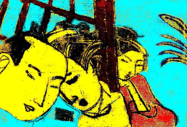 Digital Art - Japanese Pop Art Print 4c by Artist Dot