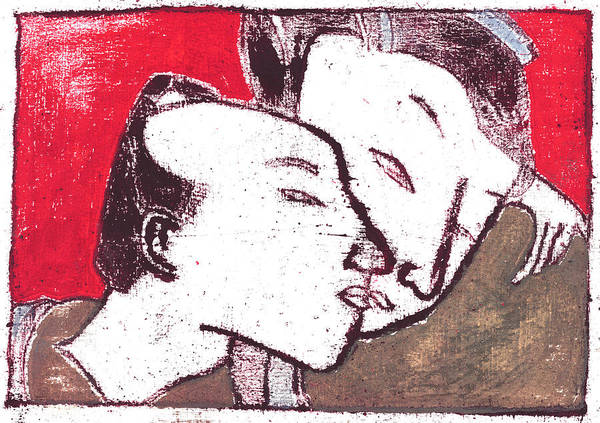 Painting - Japanese Print 12 - Romantic Couple by Artist Dot