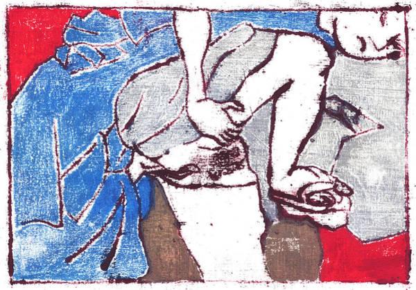 Painting - Japanese Print 13 Erotic Art by Artist Dot