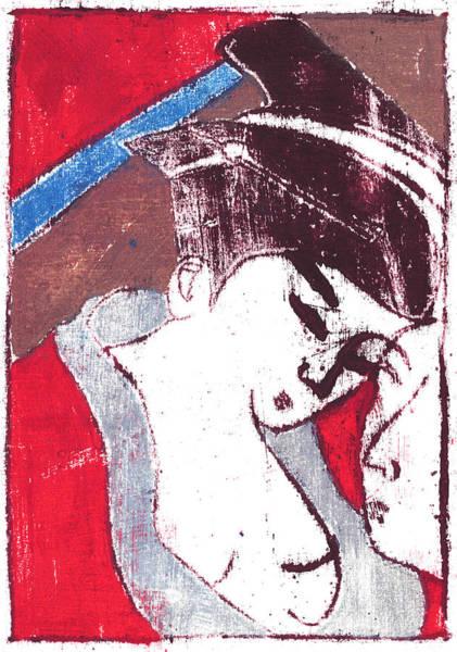 Painting - Japanese Print 14 - Erotic Art by Artist Dot