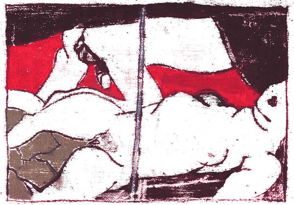 Painting - Japanese Print 8 - Erotic Nudes by Artist Dot