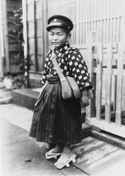 Learning Photograph - Japanese Schoolboy by Fox Photos
