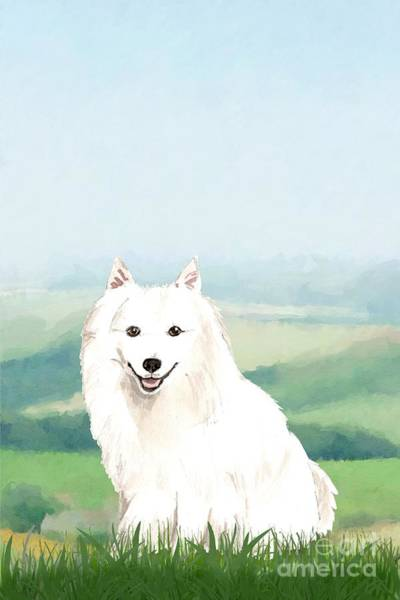 Pedigree Painting - Japanese Spitz by John Edwards