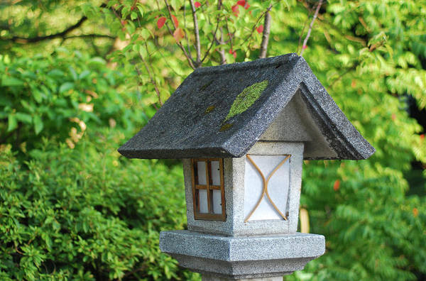 Japan Photograph - Japanese Stone Lantern by Uschools