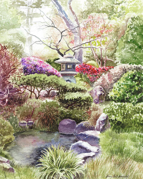 Wall Art - Painting - Japanese Tea Garden San Francisco Golden Gate Park by Irina Sztukowski