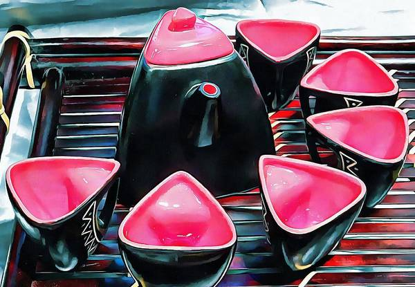 Photograph - Japanese Tea Set Pink by Dorothy Berry-Lound