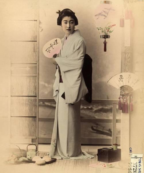 Photograph - Japanese Woman by Baron Von Stillfried