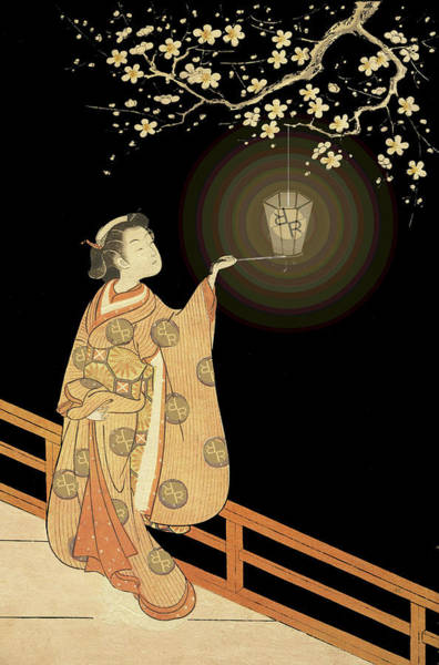 Wall Art - Painting - Japanese Woman Rise Rubino Light by Tony Rubino