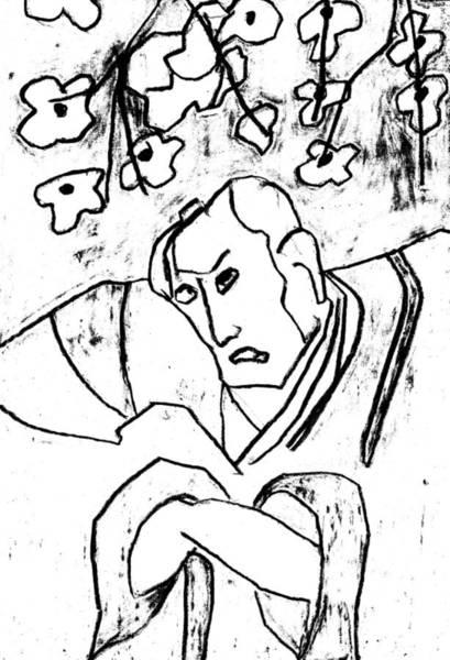 Relief - Japanese Woodblock Pop Art Print 2rcr6 by Artist Dot