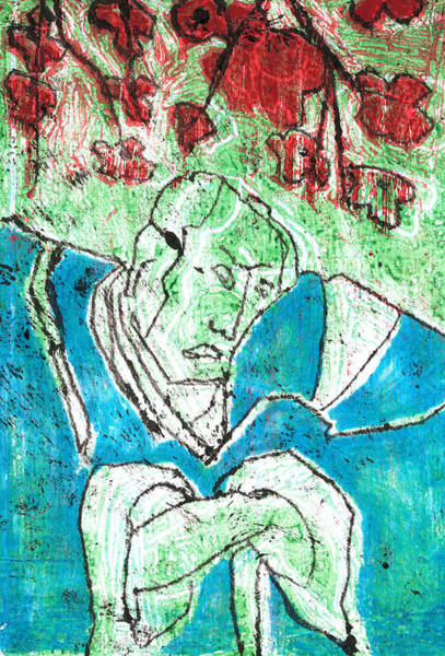 Relief - Japanese Woodblock Pop Art Print 3c1 by Artist Dot