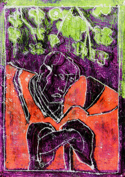 Relief - Japanese Woodblock Pop Art Print 3rf1 by Artist Dot