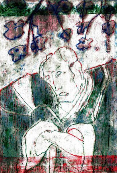 Relief - Japanese Woodblock Pop Art Print 3rvc1 by Artist Dot