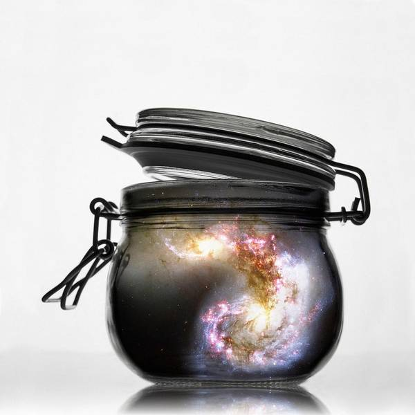 Photograph - Jar Of Galaxy by Marianna Mills
