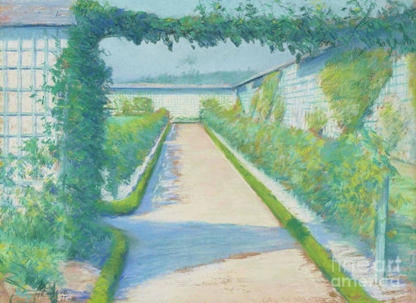 Wall Art - Pastel - Jardin Potager, Yerres, 1877  by Gustave Caillebotte