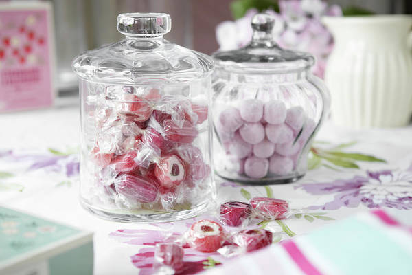 Jar Photograph - Jars Of Candies On Table by Debby Lewis-harrison