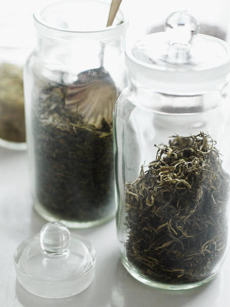 Jar Photograph - Jars Of Loose Tea by Alexandra Grablewski