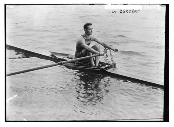 Wall Art - Painting - Jas. Cosgrave Rowing by Celestial Images