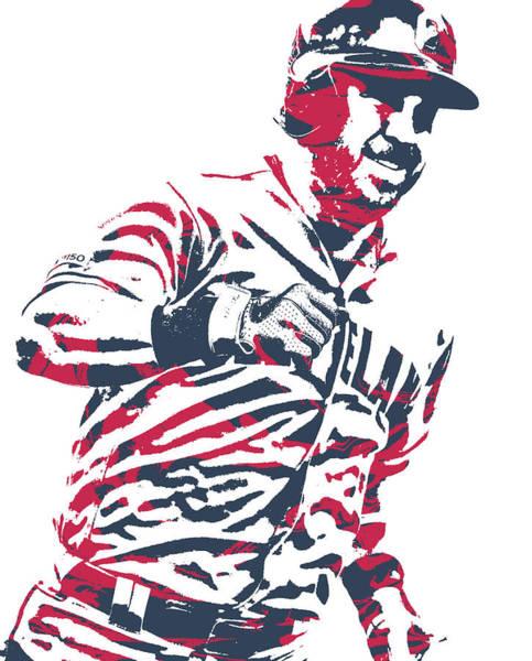 Wall Art - Mixed Media - Jason Kipnis Cleveland Indians Pixel Art 10 by Joe Hamilton