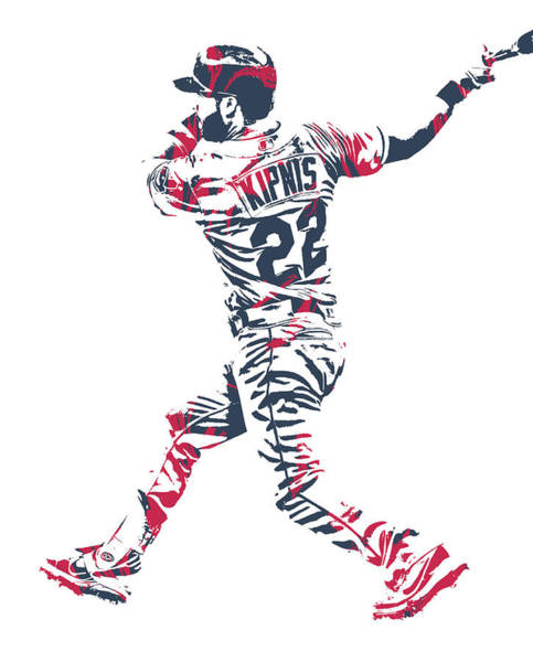 Wall Art - Mixed Media - Jason Kipnis Cleveland Indians Pixel Art 11 by Joe Hamilton