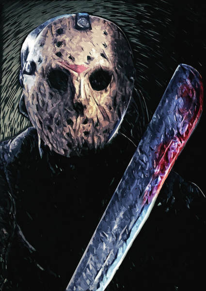 Iconic Digital Art - Jason Voorhees by Zapista Zapista