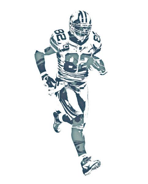 Wall Art - Mixed Media - Jason Witten Dallas Cowboys Pixel Art 20 by Joe Hamilton