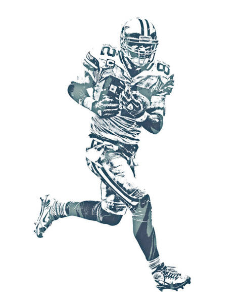 Wall Art - Mixed Media - Jason Witten Dallas Cowboys Pixel Art 21 by Joe Hamilton