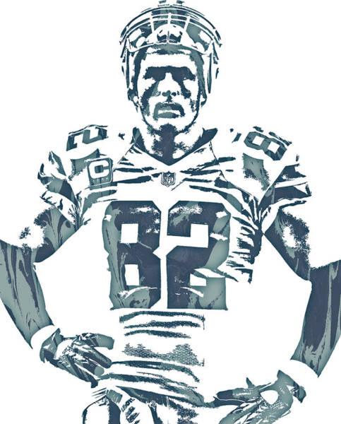 Wall Art - Mixed Media - Jason Witten Dallas Cowboys Pixel Art 22 by Joe Hamilton