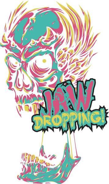 Digital Art - Jaw Dropping Skull by Passion Loft