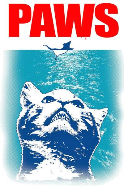 Courage Digital Art - Jaws Cats by ArtMarketJapan