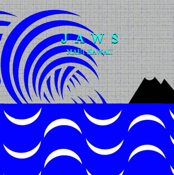 Wall Art - Digital Art - Jaws Maui Hawaii Minimlism Work A by David Lee Thompson