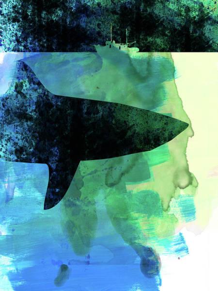 Classic Mixed Media - Jaws Watercolor by Naxart Studio