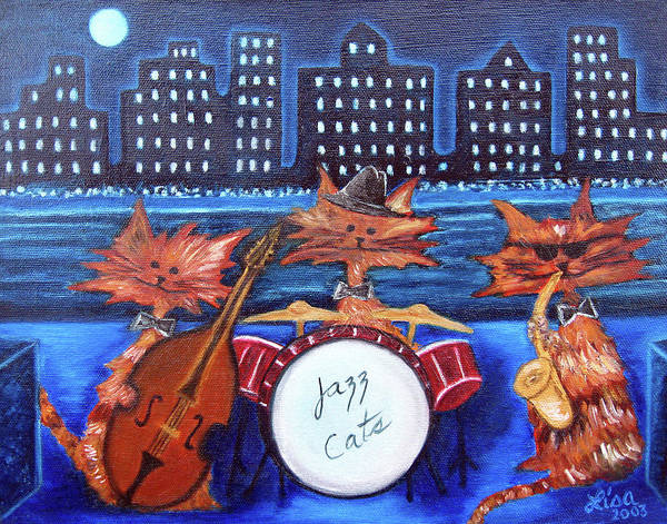 Painting - Jazz Cats by Lisa Lorenz